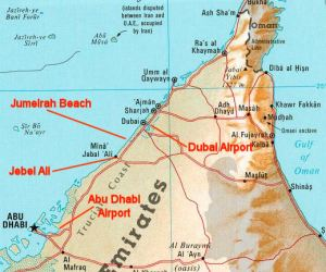 Photo of map of Dubai