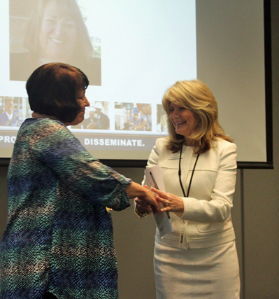 Winner of Dean of the Year - Amy Hatfield - with Executive Director, Mary Kaye Bredeson