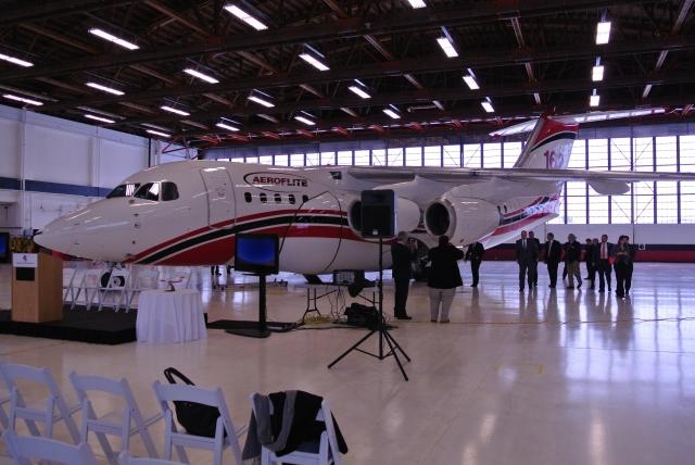 AEROFLITE RJ85 PICTURED IN SPOKANE, WA