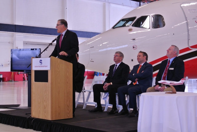Governor Inslee making an announcement